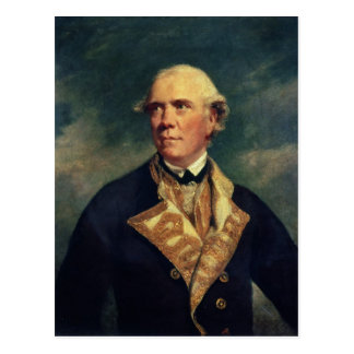 Admiral Barrington  1779 Postcard