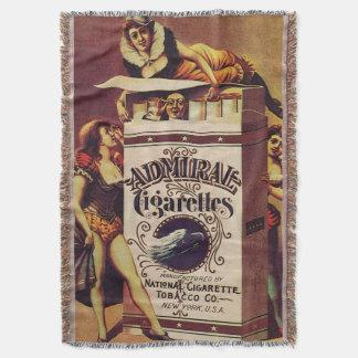 admiral cigarretes vintage poster throw blanket