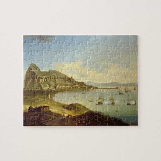 Admiral of the Blue Squadron Arriving at Gibraltar Jigsaw Puzzle