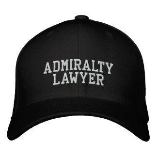 Admiralty Lawyer Embroidered Hat