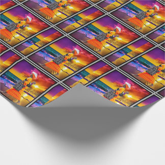 Admiring the Sunset Wrapping Paper