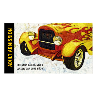 Admission Ticket for Classic Auto Show or Club Pack Of Standard Business Cards
