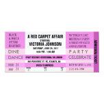 Admission Ticket Invite [Pink] 10 Cm X 24 Cm Invitation Card