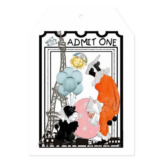 """ADMIT ONE"" BIRTHDAY CIRCUS INVITATION"