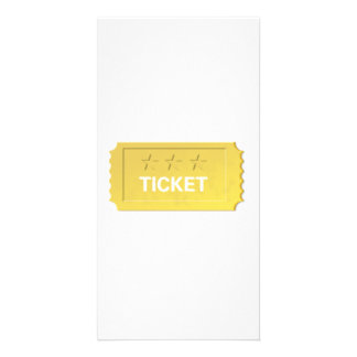 Admit One Ticket Photo Card Template