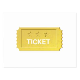 Admit One Ticket Postcard