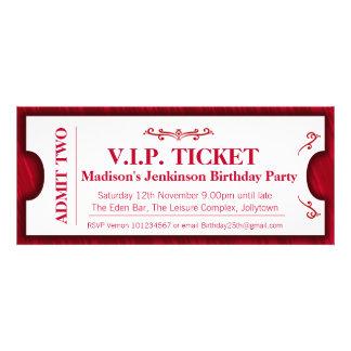 Admit two VIP 25th birthday party photo invite