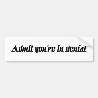 admityouareindenial bumper sticker
