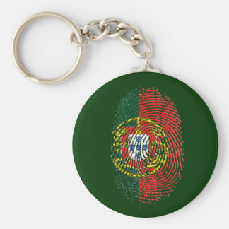ADN Português (DNA) - Tugas Camisas e Presentes Basic Round Button Key Ring
