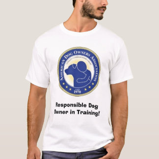 adoa-logo4 (3), Responsible Dog Owner in Training! T-Shirt