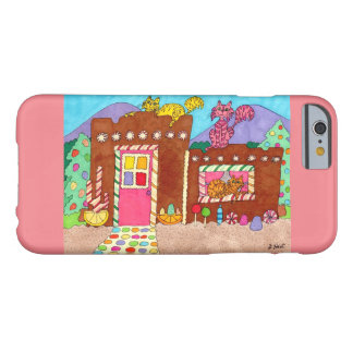 Adobe Gingerbread House with Cats Barely There iPhone 6 Case