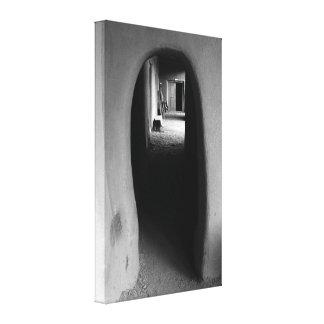 Adobe Passageway: Black & White photo Canvas Prints