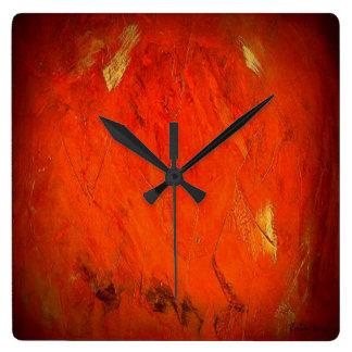 Adobe Shadows Square Wall Clock