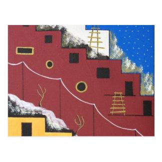 Adobe Southwest Desert Folk Art Postcard