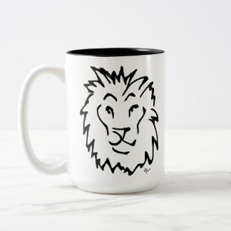 Adolf Lorenzo - Lion Two-Tone Coffee Mug