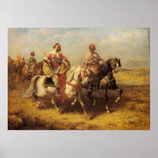 Adolf Schreyer Arab Chieftain And His Entourage Poster