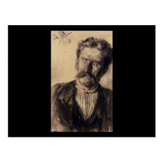 Adolph von Menzel Head Of A Man Postcard
