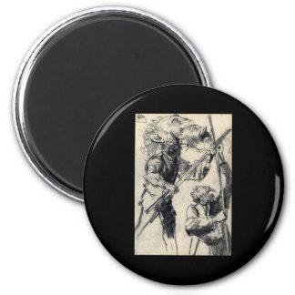 Adolph von Menzel Study Of A Male Three Views 6 Cm Round Magnet