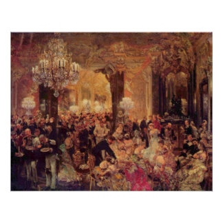 Adolph von Menzel Supper at the Ball Poster