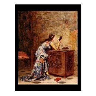 Adolphe Alexandre Lesrel  Captivated Postcard