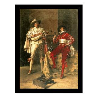Adolphe Alexandre Lesrel Gentlemens Pleasures Postcard