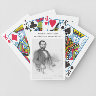 Adolphe Charles Adam, 1850 Bicycle Playing Cards