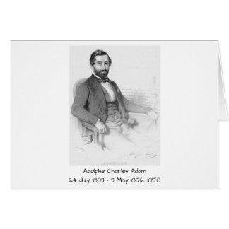 Adolphe Charles Adam, 1850 Card