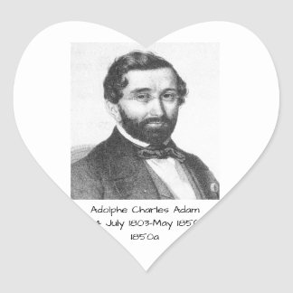 Adolphe Charles Adam, 1850a Heart Sticker