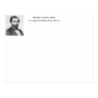Adolphe Charles Adam, 1850a Postcard