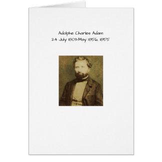 Adolphe Charles Adam, 1855 Card
