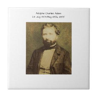 Adolphe Charles Adam, 1855 Ceramic Tile