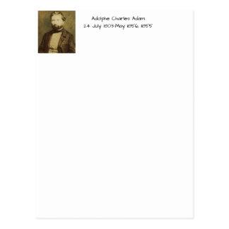 Adolphe Charles Adam, 1855 Postcard