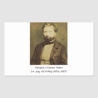 Adolphe Charles Adam, 1855 Rectangular Sticker