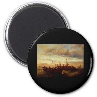 Adolphe Monticelli Joseph Thomas Italian Fishing 6 Cm Round Magnet