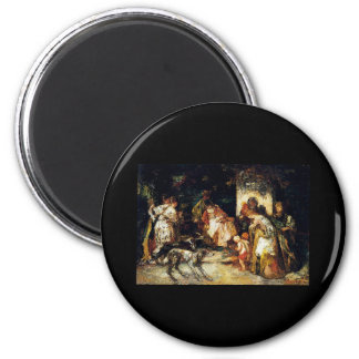 Adolphe Monticelli The Offering 6 Cm Round Magnet