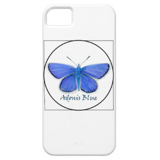Adonis Blue Butterfly Watercolor Painting iPhone 5 Cover