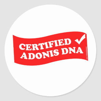 ADONIS DNA CLASSIC ROUND STICKER