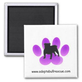 Adopt-a-bull, English Bulldog Rescue Square Magnet