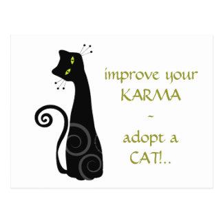 Adopt a Cat Postcard