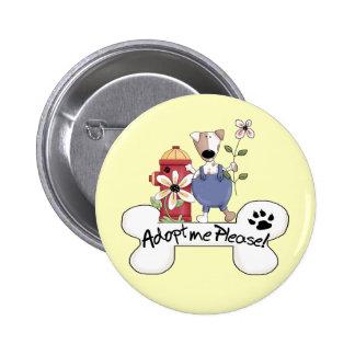 Adopt A Dog Buttons