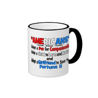 Adopt A Girlfriend Ringer Mug
