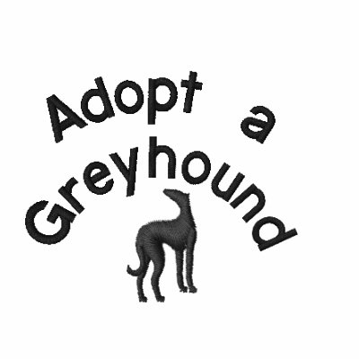 Adopt a Greyhound Dog Embroidered Ladies Polo