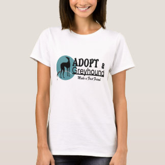 Adopt a Greyhound Dog Logo T-Shirt