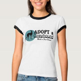 Adopt a Greyhound Dog Logo T-Shirt