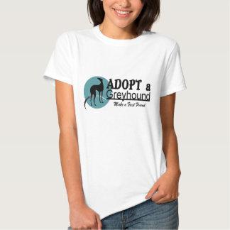 Adopt a Greyhound Dog Logo Tee Shirt