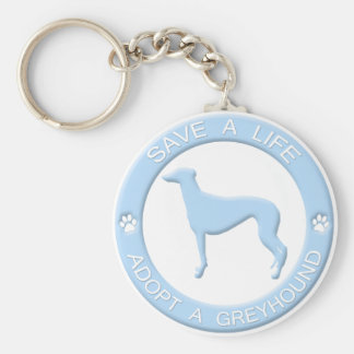 Adopt a Greyhound Keychain