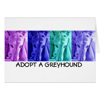 Adopt a Greyhound Notecards Card