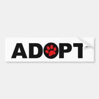 Adopt A Pet Bumper Sticker