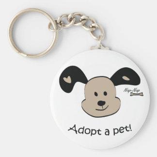 Adopt a pet key chain
