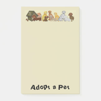 Adopt a Pet Post-it® Notes